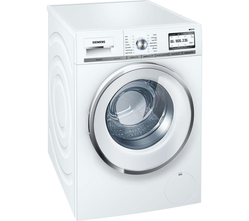 SIEMENS iQ700 WMH6Y790GB Smart Washing Machine - White