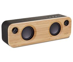 Get Together Mini Bluetooth Wireless Portable Speaker - Wood & Black