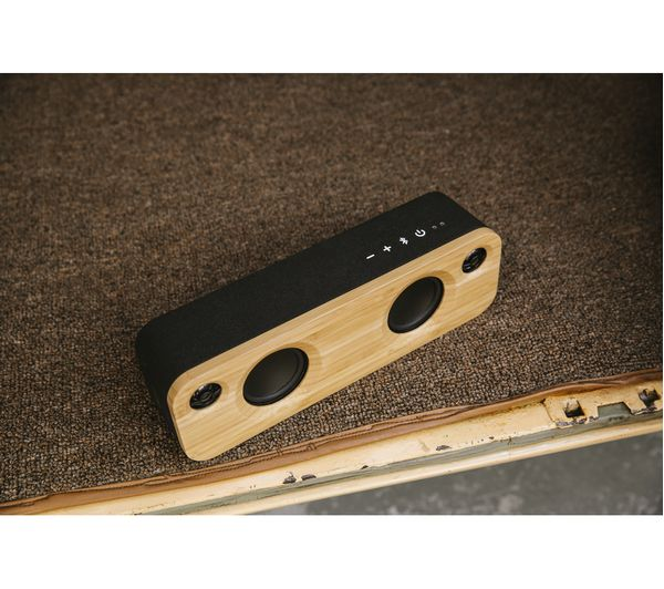 HOUSE OF MARLEY Get Together Mini Bluetooth Wireless Portable Speaker    Wood U0026 Black