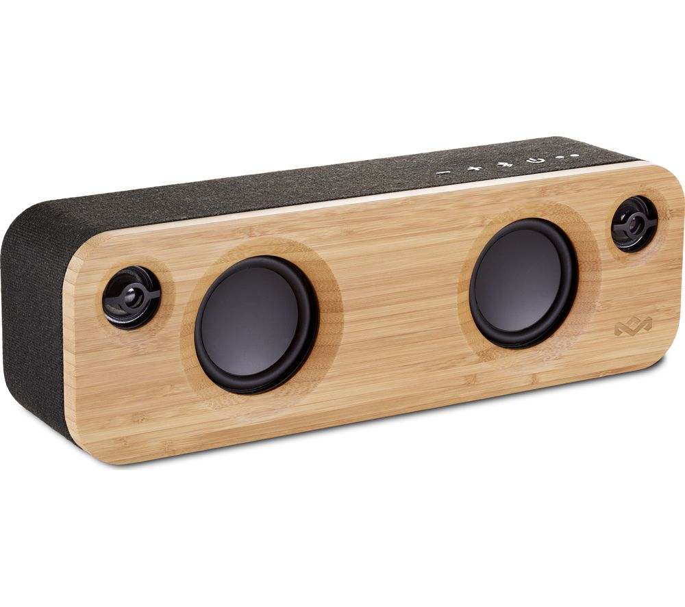 Image of House Of Marley Get Together Mini Bluetooth Wireless Portable Speaker - Wood & Black, Black