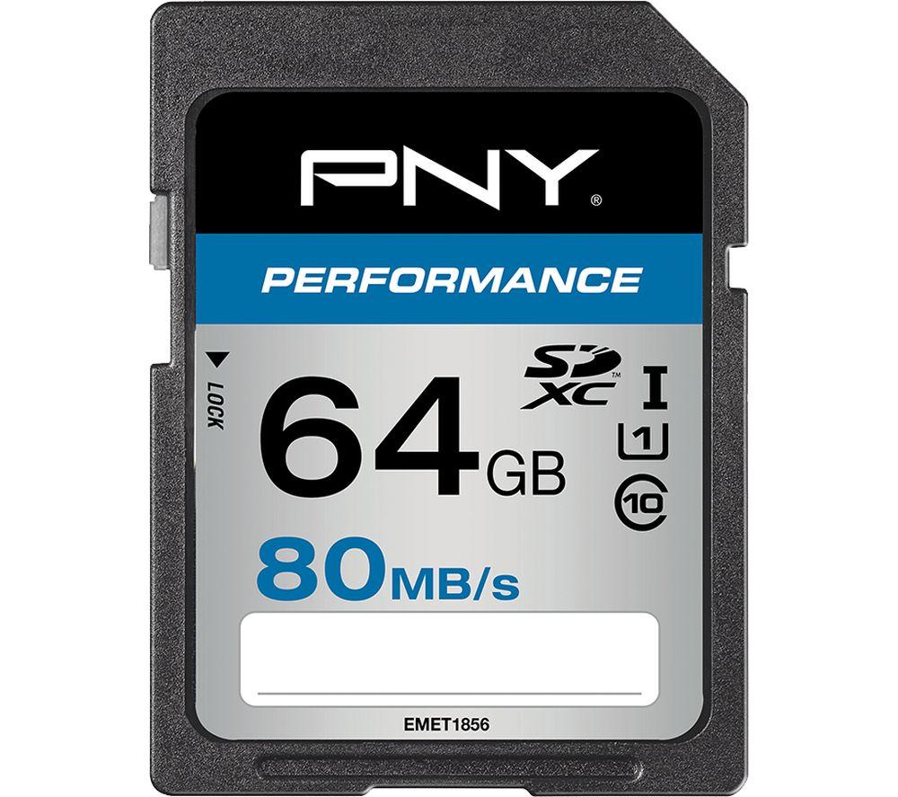 PNY Performance Class 10 SDHC Memory Card - 64 GB