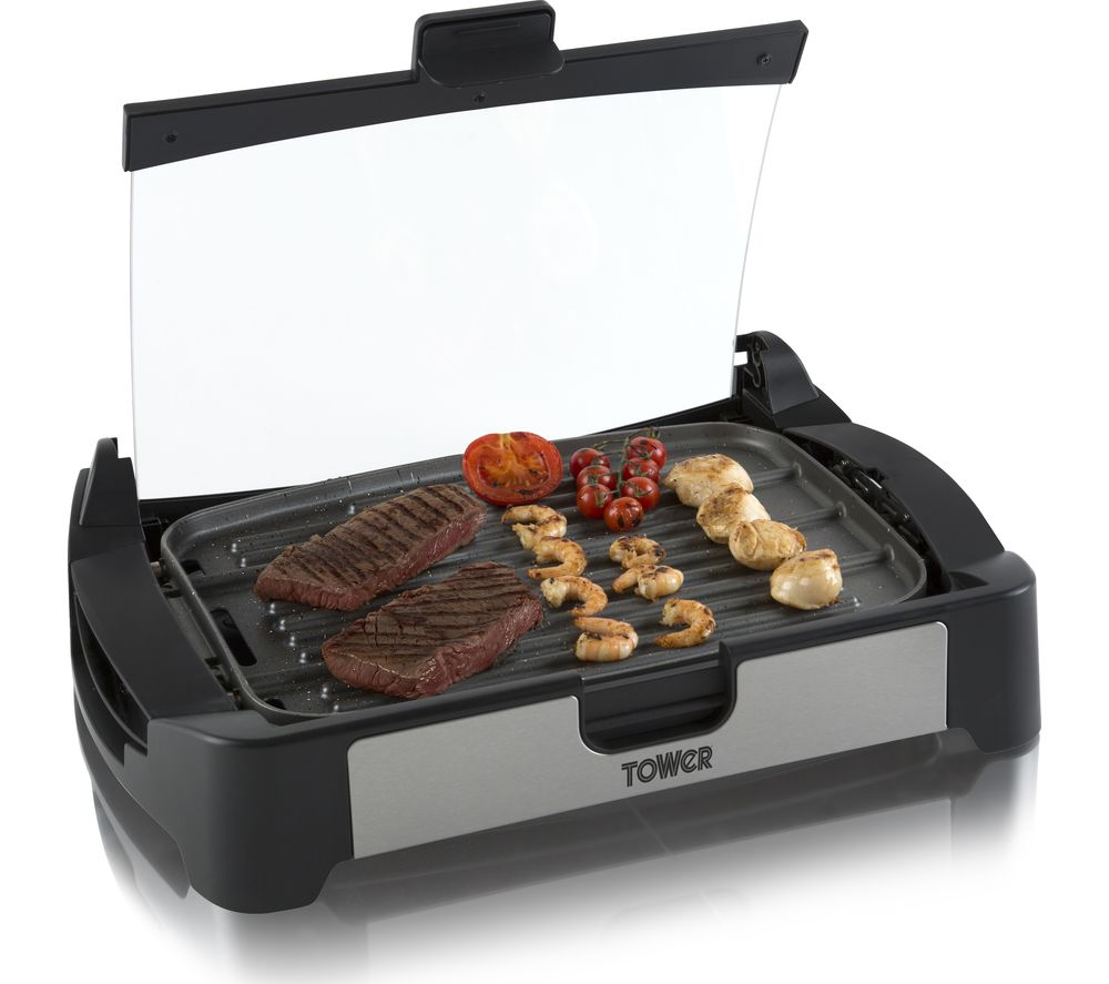 TOWER Reversible Health T14009 Grill & Oven - Black