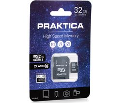 PRAKTICA High Performance Class 10 microSDHC Memory Card - 32 GB