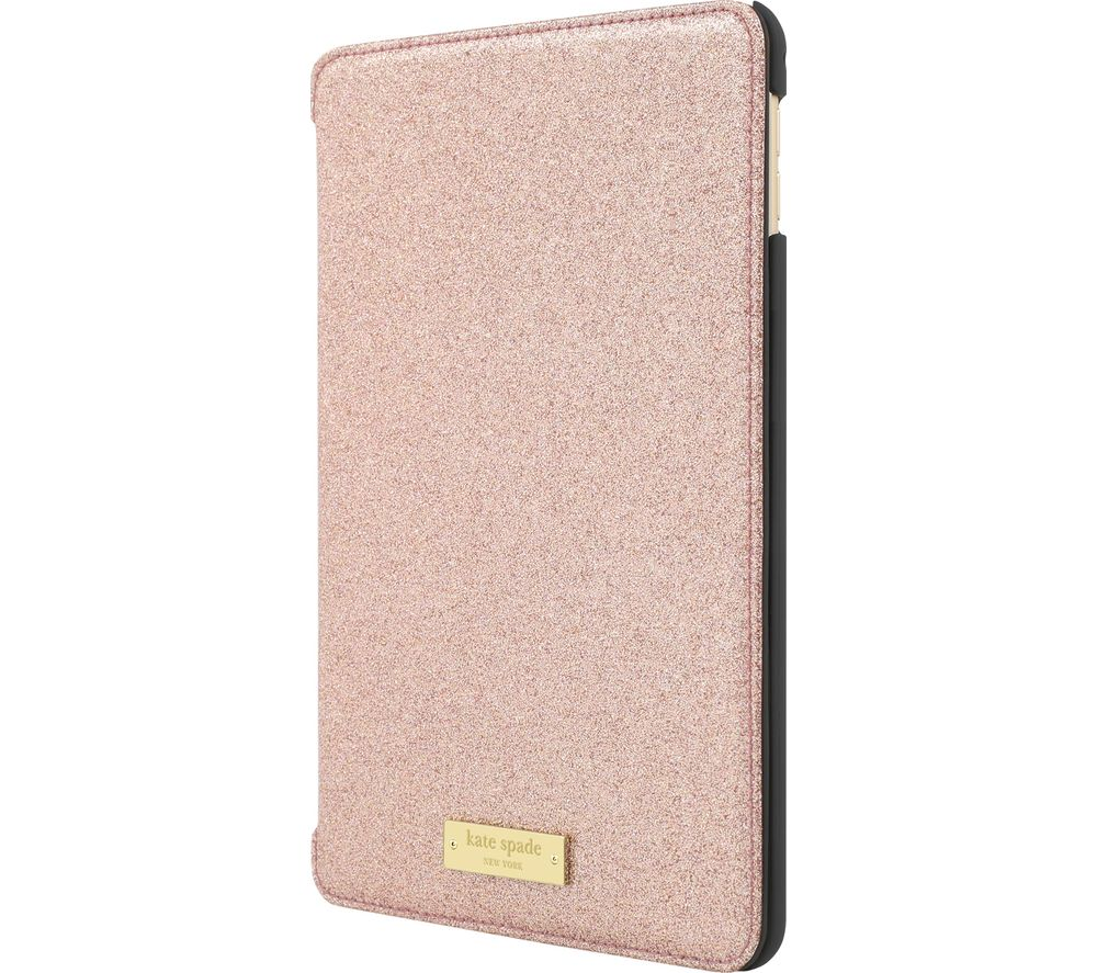KATE SPADE New York Glitter iPad mini 4 Folio Case - Rose