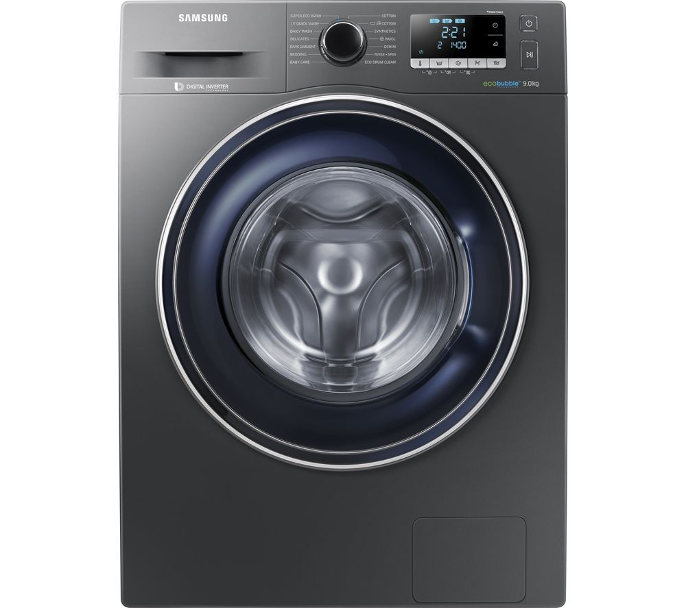 buy samsung ecobubble ww90j5456fx 9 kg 1400 spin washing machine graphite free delivery currys. Black Bedroom Furniture Sets. Home Design Ideas