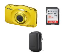 NIKON COOLPIX W100 Tough Compact Camera - Yellow