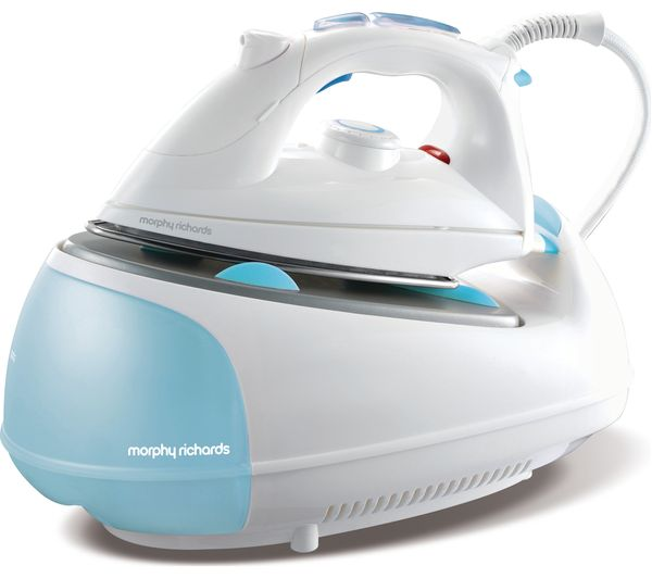 Image of MORPHY RICHARDS Jet Steam 333021 Steam Generator Iron - White & Blue