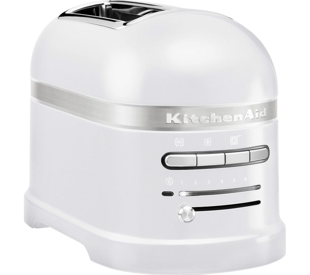 Buy Kitchenaid Artisan 5kmt2204bfp 2 Slice Toaster Frosted Pearl Free Delivery Currys