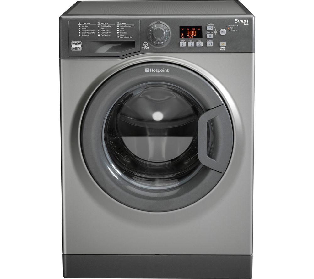 Image of HOTPOINT Smart WMFUG 963G 9 kg 1600 Spin Washing Machine - Graphite, Graphite