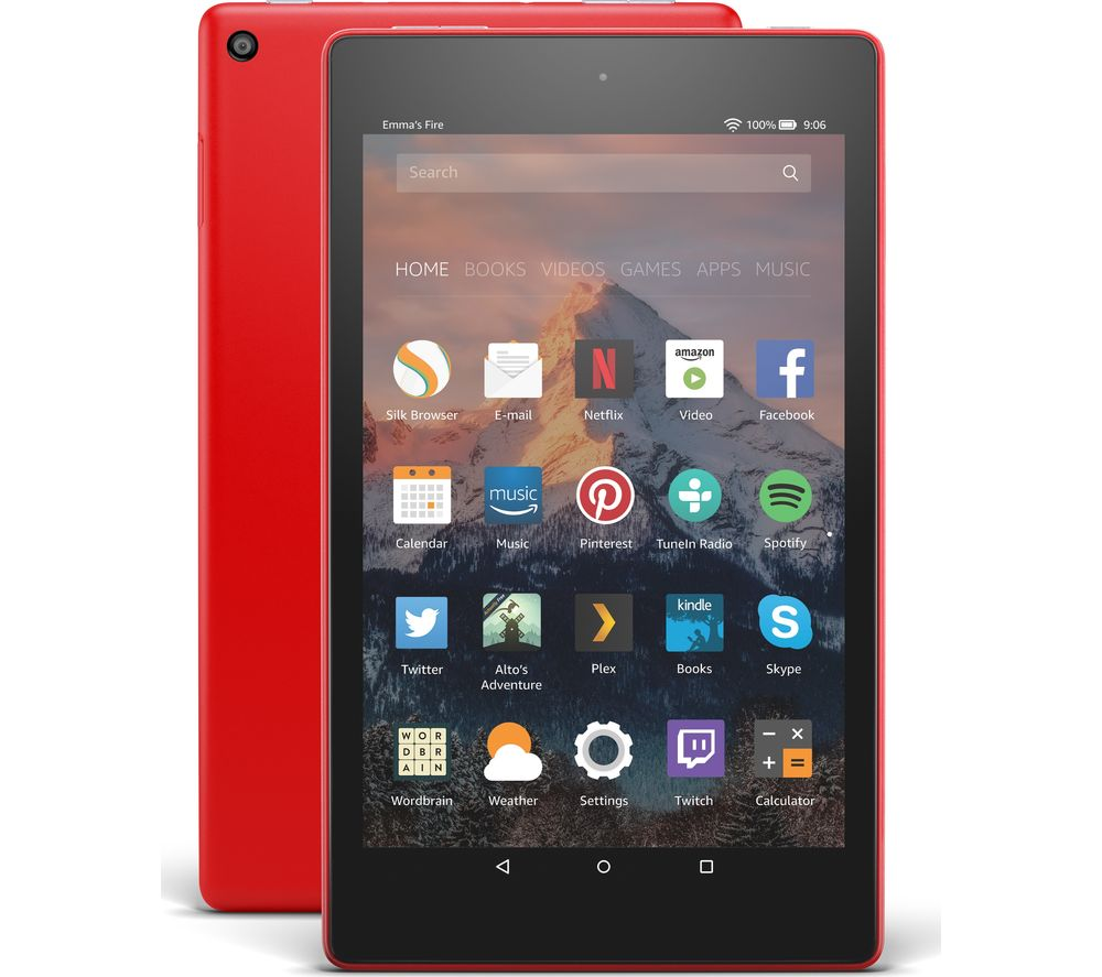 Image of AMAZON Fire HD 8 Tablet with Alexa (2017) - 16 GB, Punch Red, Red