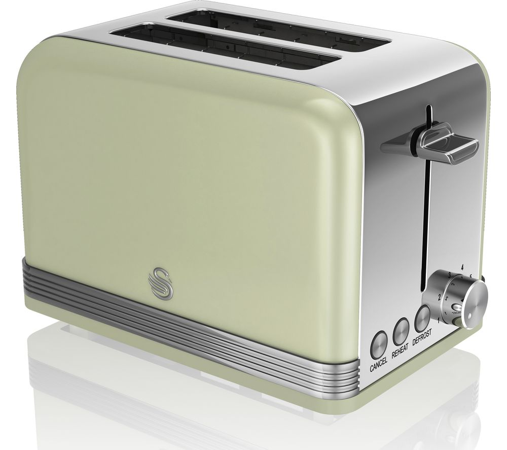 SWAN ST19010GN2-Slice Toaster - Green