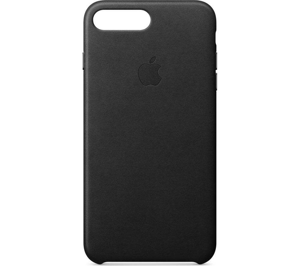 APPLE iPhone 8 & 7 Plus Leather Case - Black, Black cheapest retail price