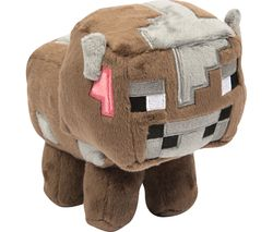 MINECRAFT Baby Cow Plush Toy - Small, Brown