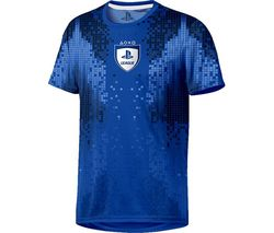PLAYSTATION E-Sports 8-Bit T-Shirt - Large, Blue