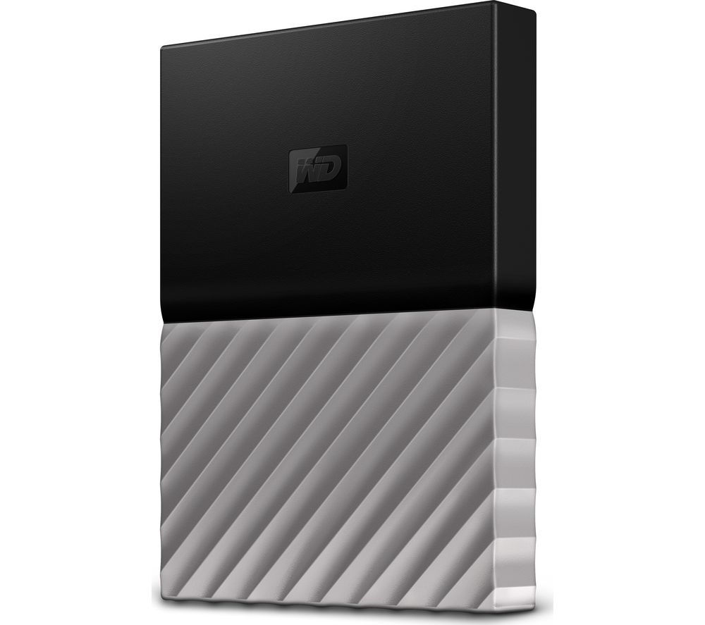 WD My Passport Ultra Portable Hard Drive - 2 TB, Black & Grey