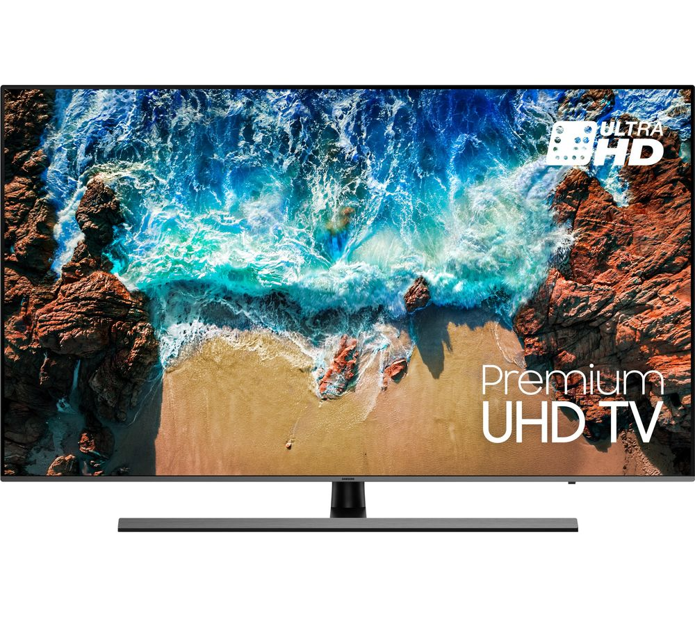 "SAMSUNG UE55NU8070 55"" Smart 4K Ultra HD HDR LED TV + SFLEZ14 Medium to Large Fixed TV Bracket"