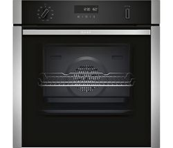 NEFF B6ACH7HN0B Slide and Hide Electric Oven - Stainless Steel