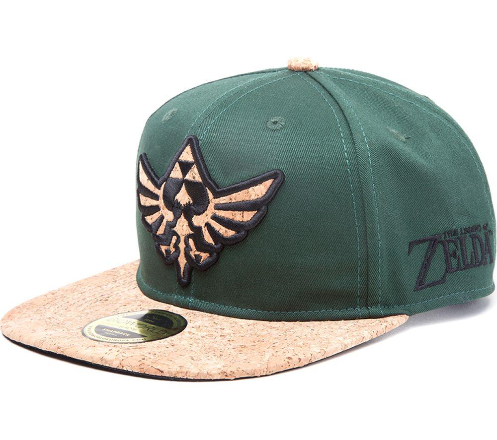 NINTENDO Zelda Triforce Logo Cork Snapback Cap - Green