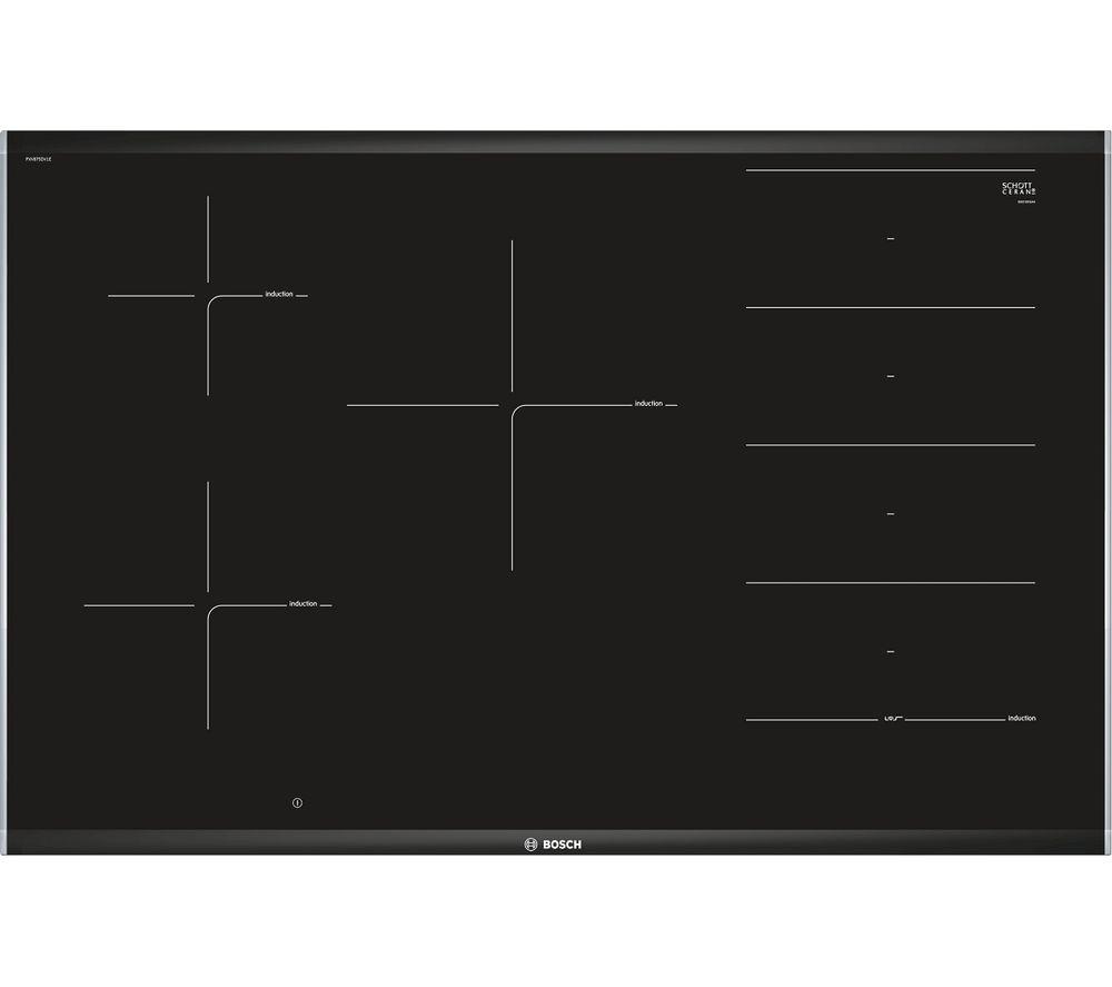 BOSCH Serie 8 PXV875DV1E Electric Induction Hob - Black