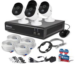 SWANN SWDVK-844804V-UK 8-Channel Full HD 1080p Smart Security System - 32 GB, 4 Cameras