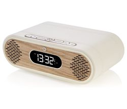 VQ Rosie-Lee DAB+/FM Bluetooth Clock Radio - Cream & Oak