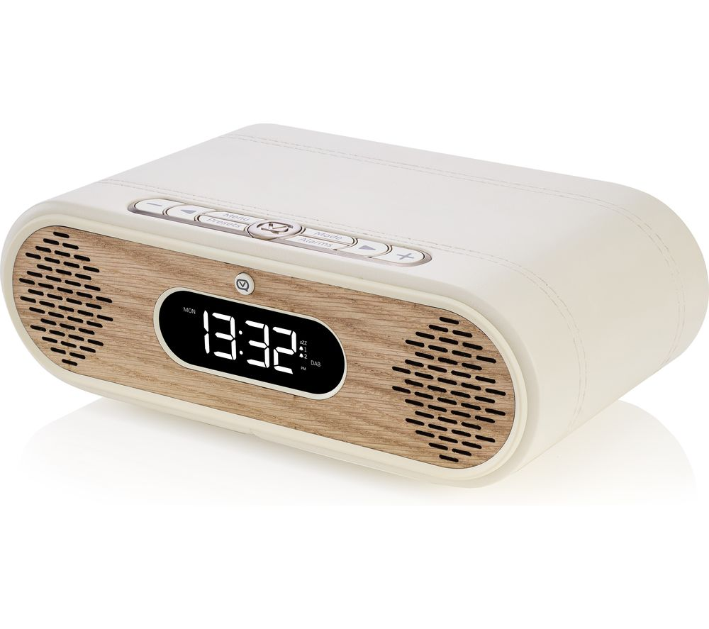 Image of VQ Rosie-Lee DAB+/FM Bluetooth Clock Radio - Cream & Oak, Cream
