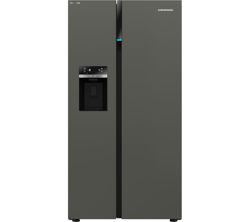 GRUNDIG GSBS16312G American-Style Fridge Freezer - Graphite
