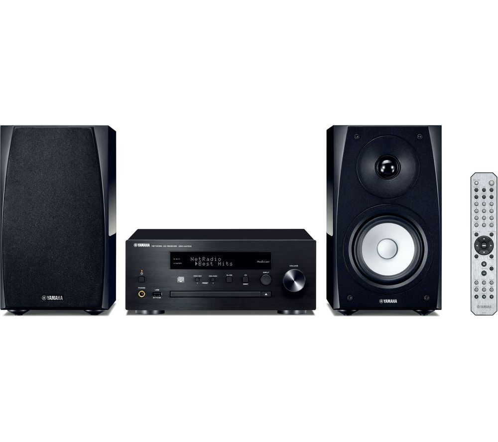 Image of YAMAHA MusicCast MCR-N570D Wireless Multi-room Traditional Hi-Fi System - Black, Black