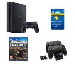 SONY PlayStation 4, Days Gone, Twin Docking Station & PlayStation Plus Bundle - 500 GB