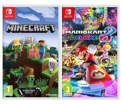 Minecraft & Mario Kart 8 Deluxe Bundle