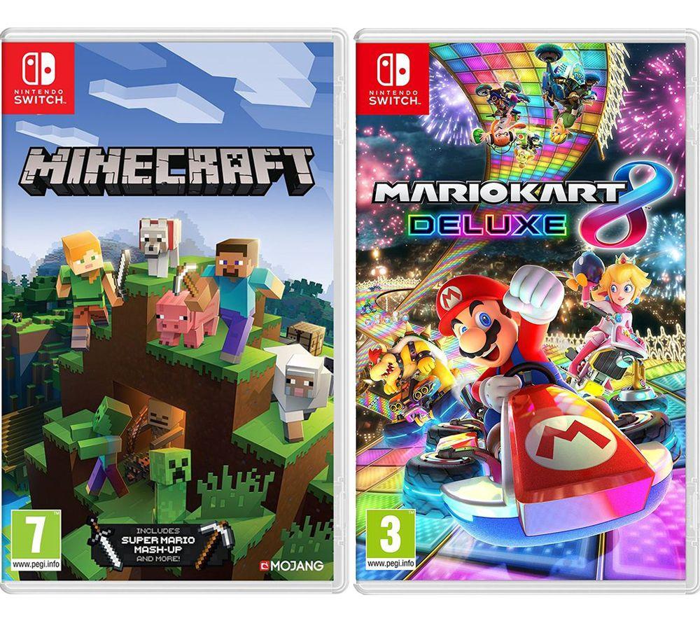 Minecraft Mario Kart 8 Deluxe Bundle