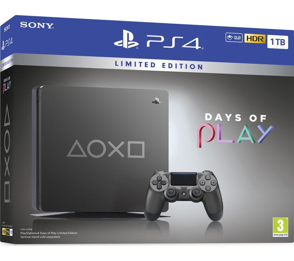 Play Station 4: Days Of Play Edition   1 Tb by Currys