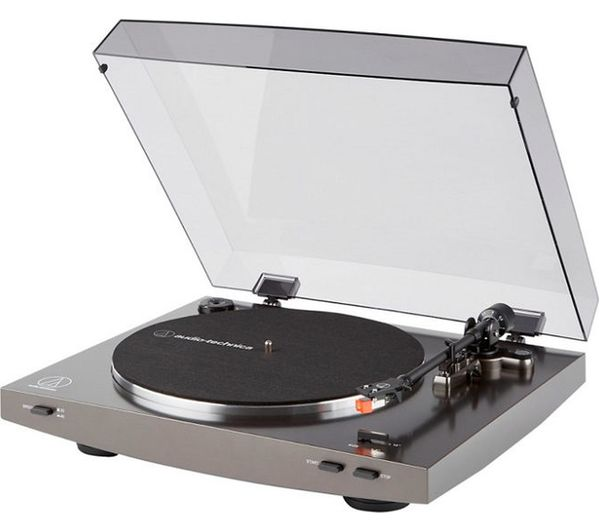 Image of AUDIO TECHNICA AT-LP2X Belt Drive Turntable - Grey