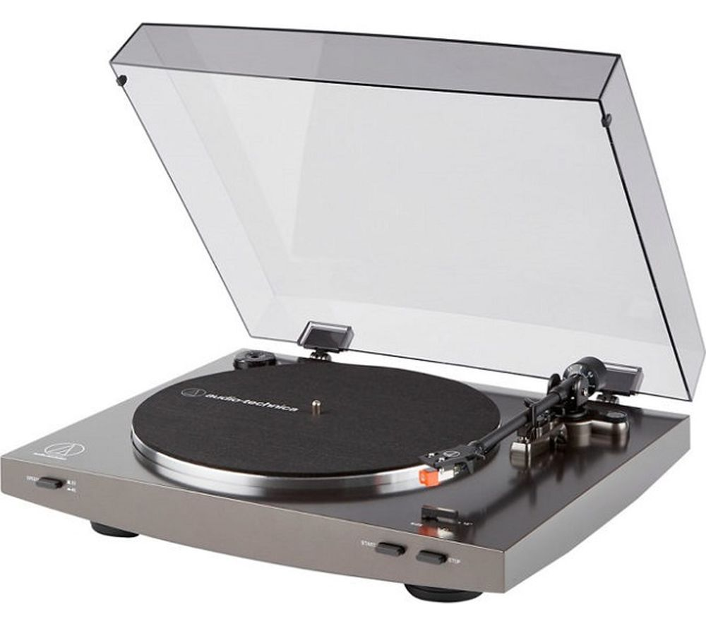 Image of AUDIO TECHNICA AT-LP2X Belt Drive Turntable - Grey, Grey