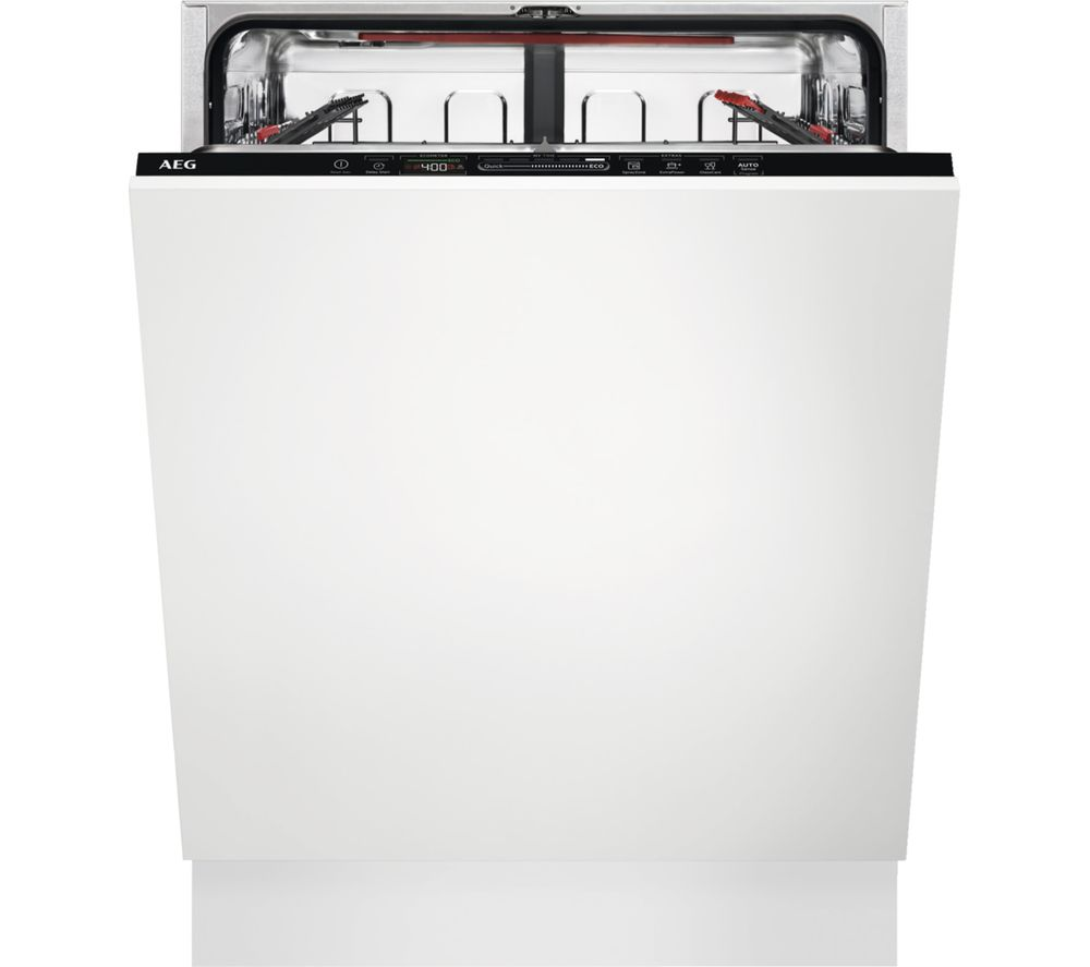 Image of AEG AirDry Technology FSS63607P Full-size?Fully Integrated Dishwasher, Red
