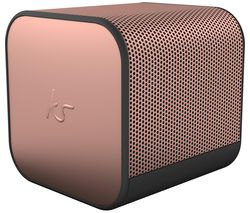 KITSOUND BoomCube Portable Bluetooth Speaker - Rose Gold