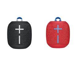 ULTIMATE EARS WONDERBOOM 2 Portable Bluetooth Speaker Black & Red Bundle
