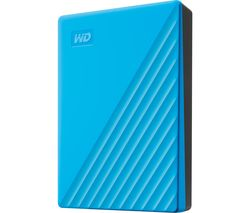 WD My Passport Portable Hard Drive - 4 TB, Blue