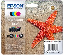 603 Starfish Cyan, Magenta, Yellow & Black Ink Cartridges - Multipack