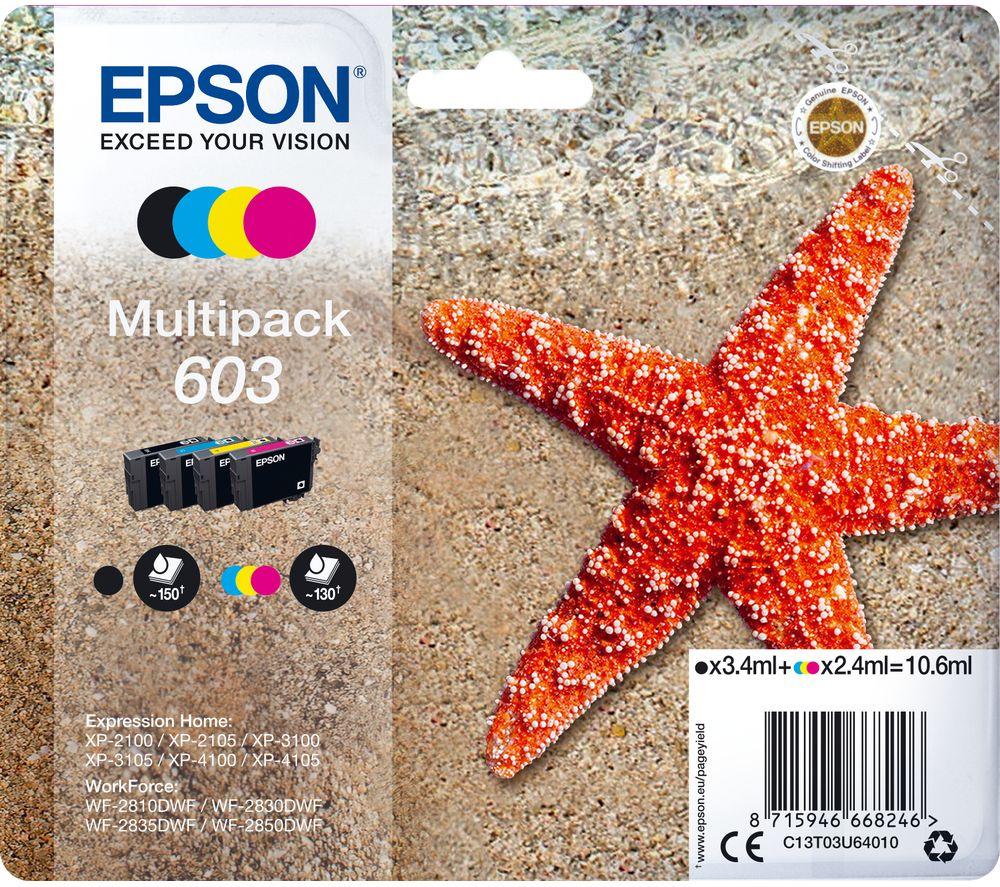 Image of 603 Starfish Cyan, Magenta, Yellow & Black Ink Cartridges - Multipack, Cyan