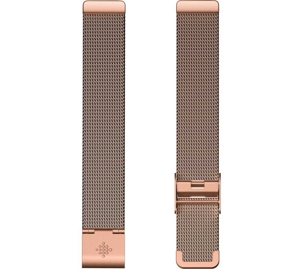 FITBIT Inspire Metal Mesh Watch Band - Rose Gold, Universal
