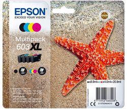 603 XL Starfish Cyan, Magenta, Yellow & Black Ink Cartridges - Multipack