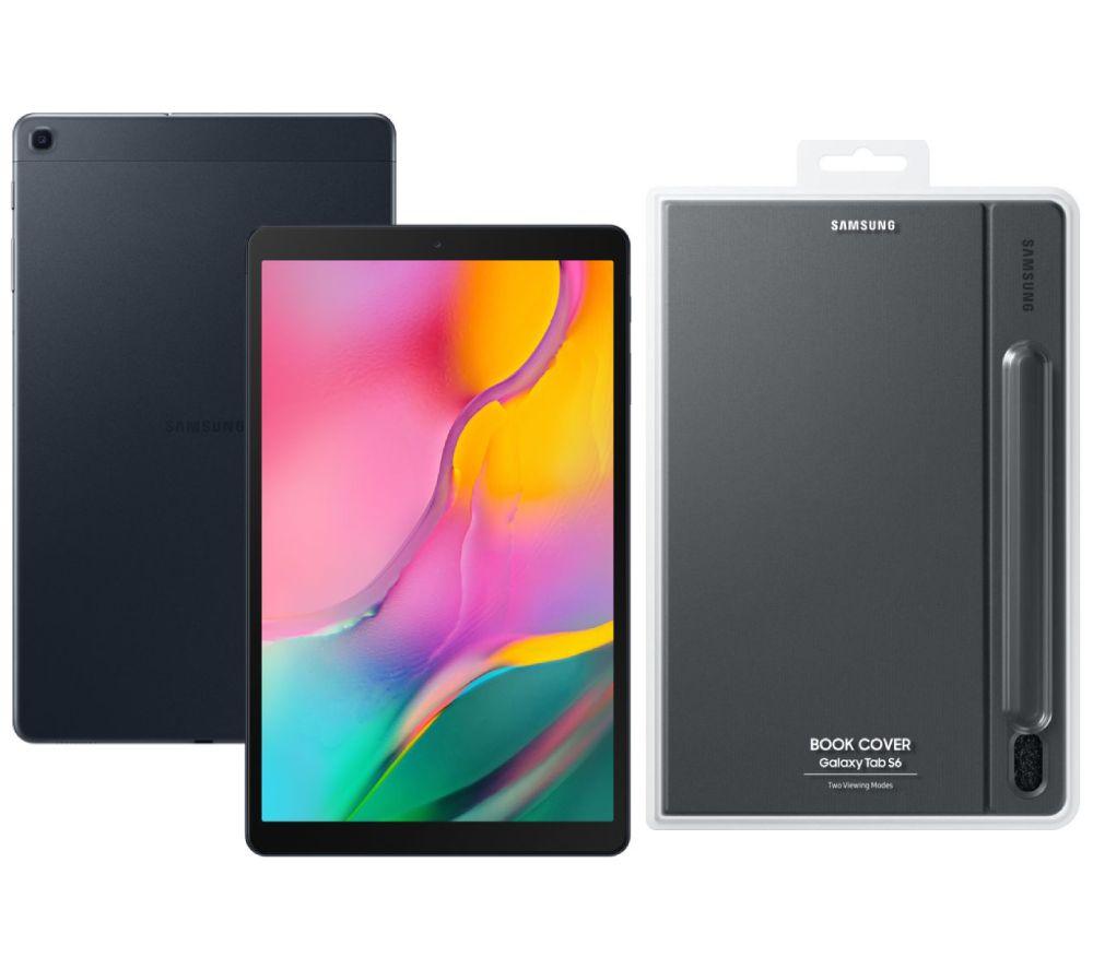 "Image of SAMSUNG Galaxy Tab A 10.1"" Tablet (2019) & Book Cover Bundle - 32 GB, Black, Black"