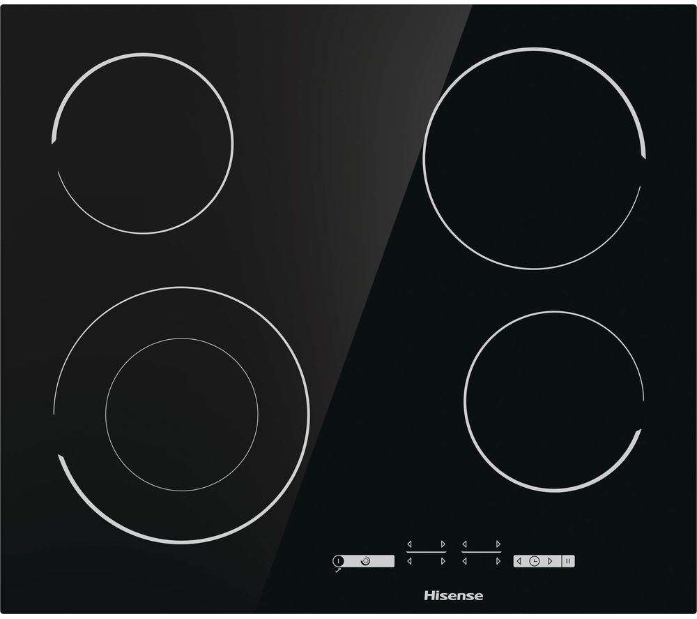 HISENSE E6432C Electric Ceramic Hob - Black, Black