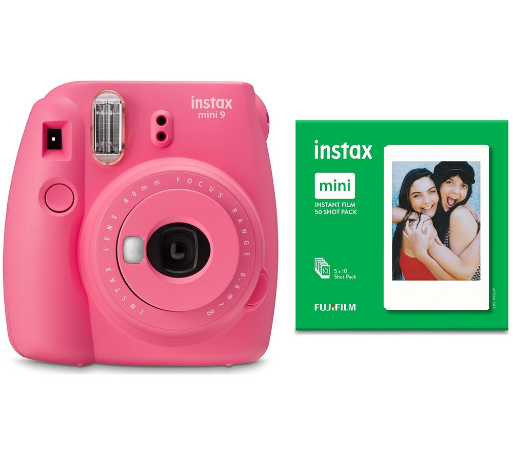 Click to view product details and reviews for Instax Mini 9 Instant Camera 50 Shot Pack Bundle Flamingo Pink Pink.