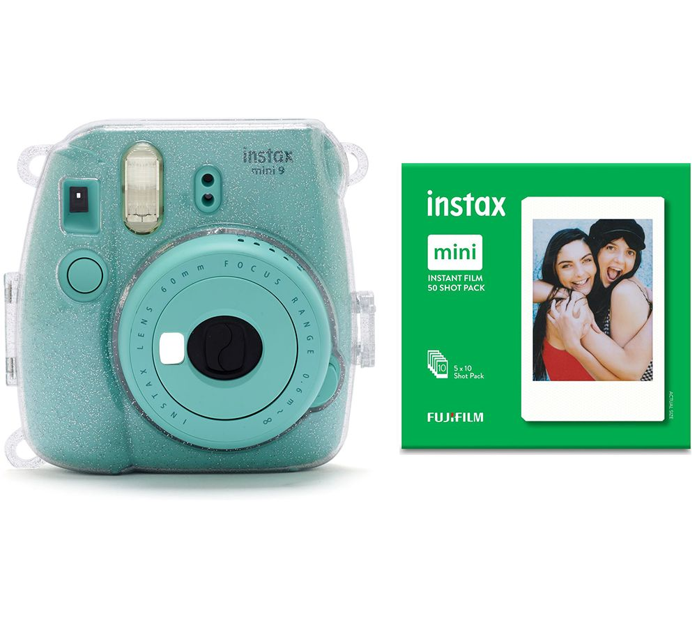 Click to view product details and reviews for Instax Mini 9 Instant Camera With Film Case Led Peg Lights Frame Stickers 50 Shot Pack Bundle Aquamarine Aquamarine.