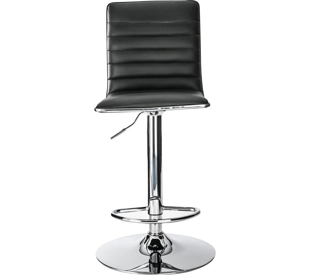 ALPHASON Colby Faux-Leather Bar Stool Chair - Black, Black