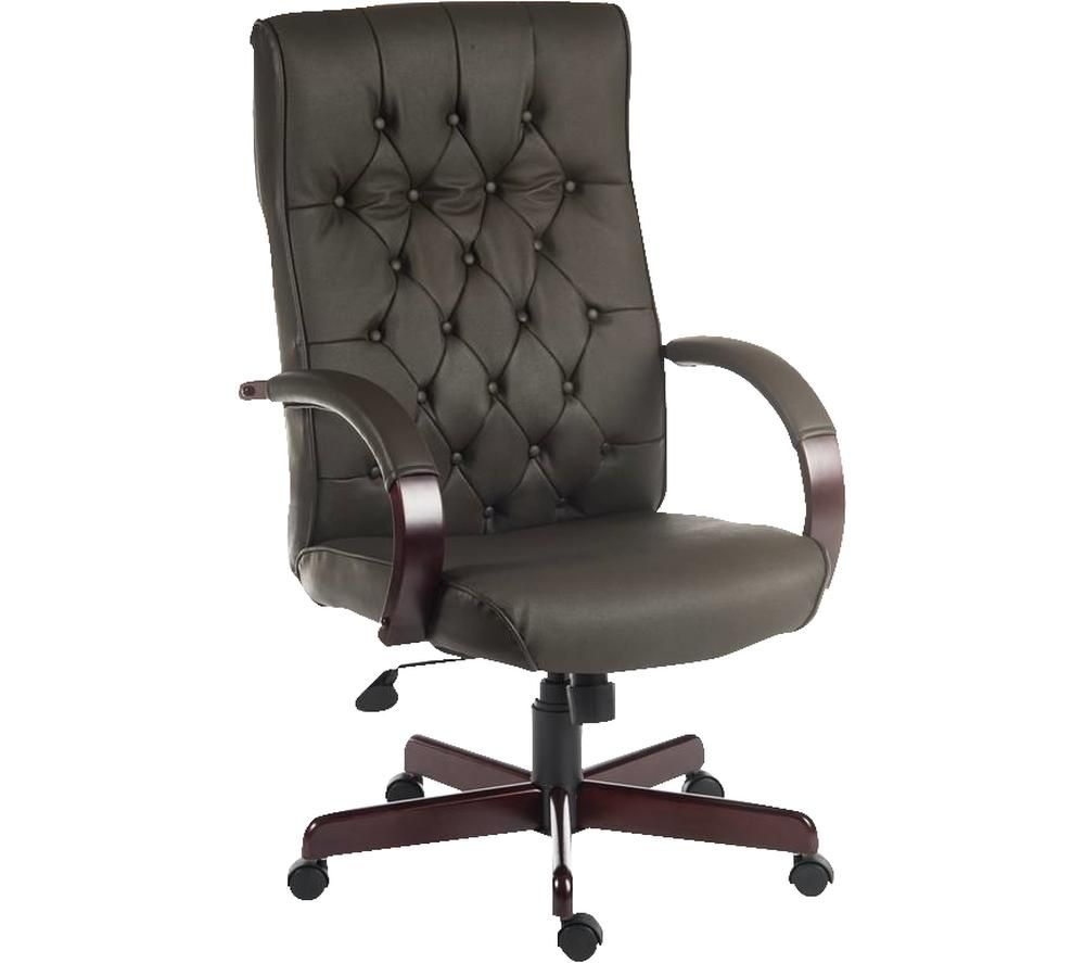 TEKNIK Warwick Bonded-leather Tilting Executive Chair - Brown
