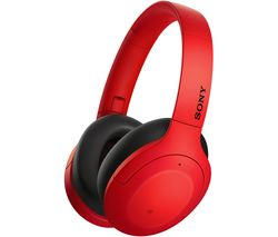 SONY WH-H910 Wireless Bluetooth Noise-Cancelling Headphones - Red
