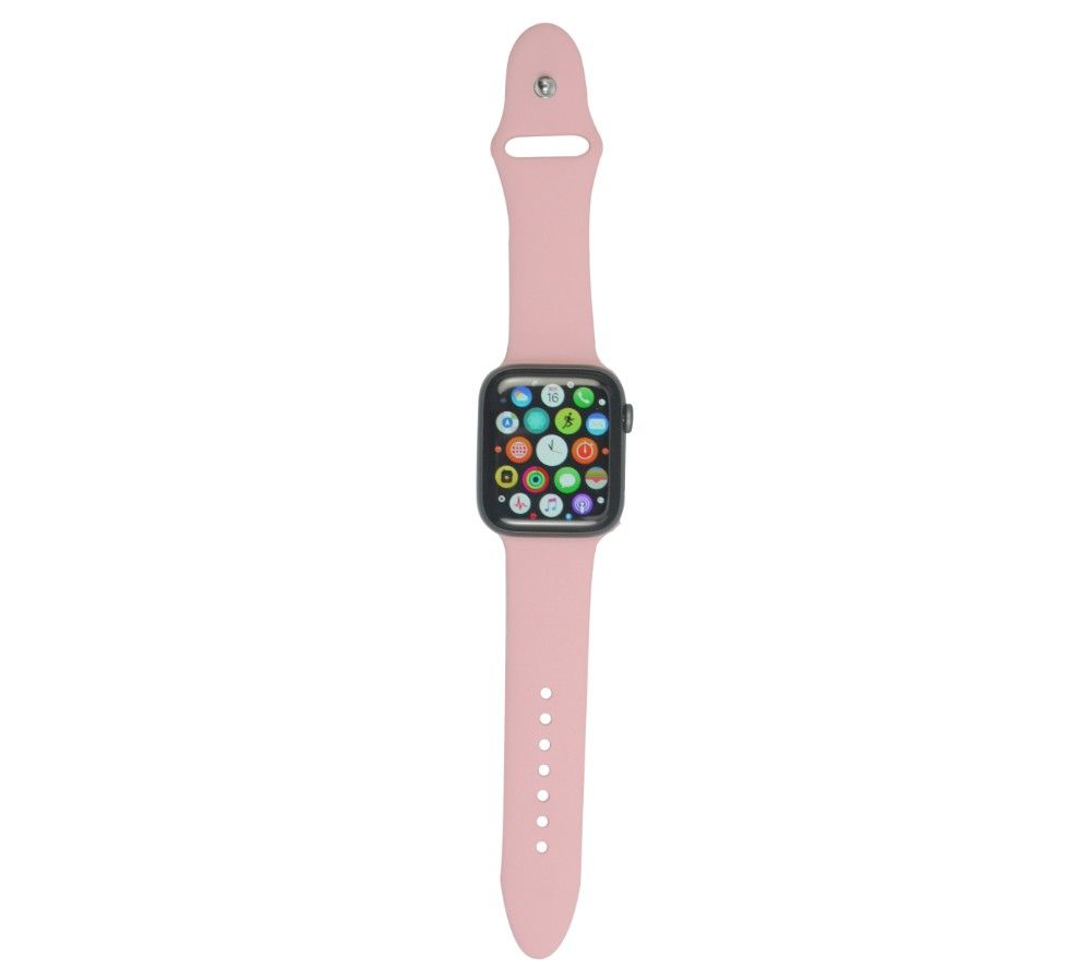 XQISIT Apple Watch 42 / 44 mm Silicone Strap - Pink, Small
